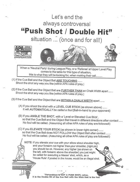 learning the double hit rule